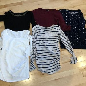 Lot of 5 H&M maternity 3/4 sleeve tops!